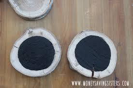 diy wood slice chalkboard paint tree ornaments money