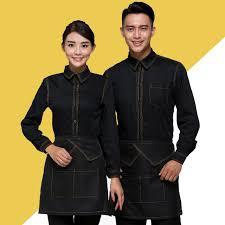 vetement de travail cuisine chinois restaurant serveur uniforme café serveuse uniforme