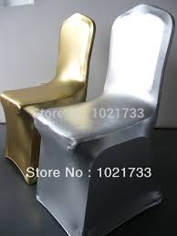aliexpress com buy gold chair cover metallic gold and silver