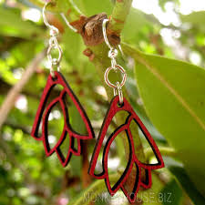 green tree earrings leaf bouquet green tree jewelry laser cut wooden earrings usa