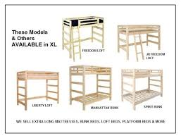 extra long beds xl bunk beds xl loft beds xl twin beds