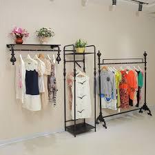 store decoration ho leisure clothing store shelf on wall wrought iron shop decoration