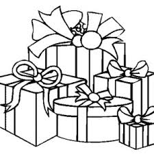 coloring page of christmas tree with presents christmas tree with presents drawing clipartxtras