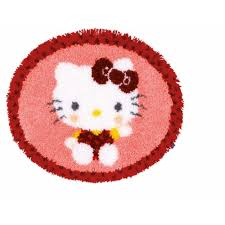 Vervaco Latch Hook Rug Kits Vervaco Latch Hook Rug Kit Hello Kitty In The Bakery Pn 0154948