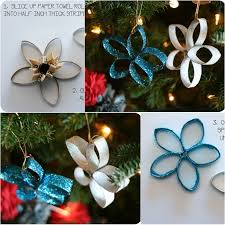 the perfect diy paper roll christmas tree and star ornaments the