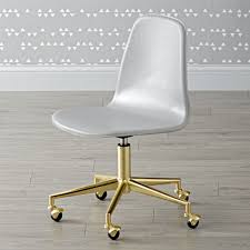Leather Kids Chair Class Act Light Grey U0026 Gold Desk Chair Gold Desk Shop Class And