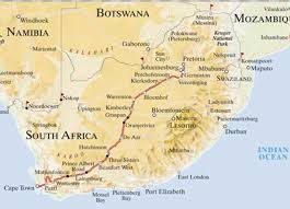 Port Elizabeth South Africa Map by The Blue Train South Africa World Train Travel