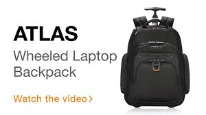 Rugged Laptop Bags Everki Atlas Wheeled Laptop Backpack 13 Inch To 17 3 Inch