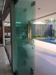 frameless glass stacking doors gcc