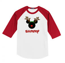 disney christmas reindeer family vacation raglan t shirts the