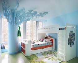 bedroom excellent kids room decoration with light blue wallpaper