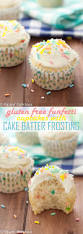 gluten free funfetti cupcakes with gf cake batter frosting
