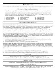 Consultant Resume Samples by Training Consultant Resume Sample Training Consultant Resume