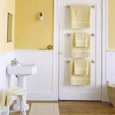 towel rack ideas for small bathrooms towel rods on the back of the door great idea for a space saver