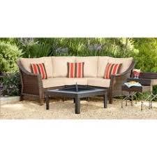 heatherstone 4 piece wicker patio conversation furniture set