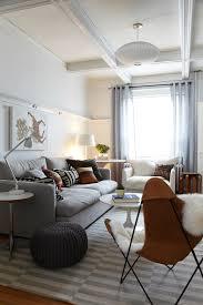 pouf kids living room scandinavian with striped area rug side