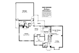 Colonial House Plan by Colonial House Plans Iverness 42 008 Associated Designs
