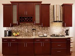 Kitchen Mural Backsplash Kitchen Doors Stunning Cherr Wood Kitchen Cabinet Pictures