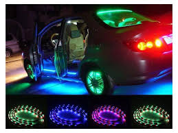 Auto Led Light Strips Agptek Ce29 7 Color Led Car Underbody Glow Lights Strip Kit 48