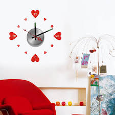 diy clocks vinyl designer home decor wall clock sticker mural art