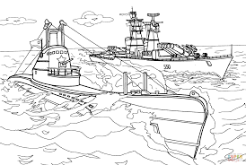 submarine and warship coloring page free printable coloring pages