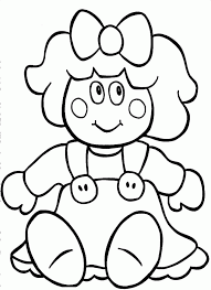 download beautiful doll christmas gift coloring pages