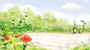 cartoon flower garden wallpaper array wallwuzz hd wallpaper 5470
