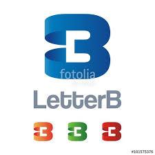logo ribbon letter b logo design ribbon stock image and royalty free vector