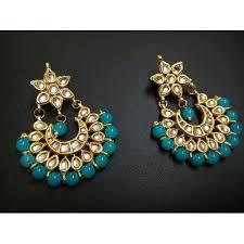 chandbali earrings online buy light blue kundan chandbali earrings online craftsvilla