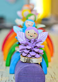 pine cone rainbow fairy crafts fun crafts kids