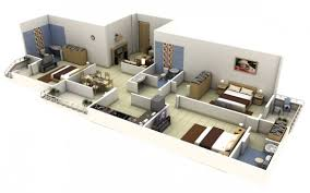 3 bedroom house floor plans with models apartmenthouse flat plan