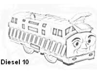 diesel 10 coloring pages coloring pages diesel 10 thomas
