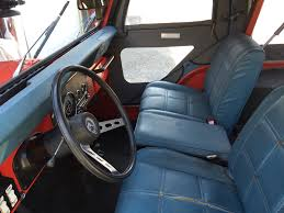 jeep lj interior is this denim upholstered cj5 the most 1970s jeep ever the drive