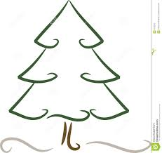 simple christmas tree in winter stock photography image 6752242