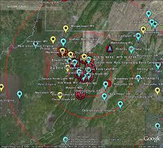 Map Of Charlottesville Va The Latest Worldwide Meteor Meteorite News Meteor Meteorite News