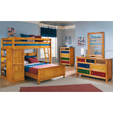 colorworks dresser and mirror honey pine american signature click to change image