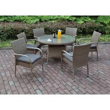 7 Piece Patio Dining Sets - meadow decor kingston 7 piece round patio dining set pacifica 7
