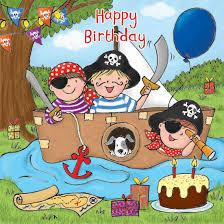 happy birthday card with pirate boys birthday card
