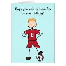 soccer player birthday cards greeting u0026 photo cards zazzle
