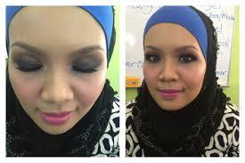 Makeup Tiar Zainal habeebah husain make up class by tiar zainal