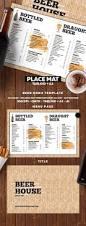 beer menu food menu print templates and menu