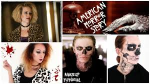 american horror story halloween makeup tutorial tate langdon