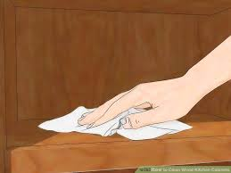 Ways To Clean Wood Kitchen Cabinets WikiHow - Cleaner for wood cabinets in the kitchen