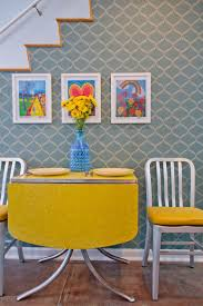 Retro Dining Table Colorful Zest How To Add Retro Glam To Your Dining Room