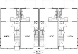 innovation idea 1 town house plans narrow lot 4 plex plans