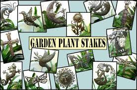 Garden Metal Decor Metal Garden Plant Sticks Stakes Haitian Metal Art Garden Art