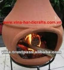 Red Clay Chiminea Chi 6868l Natural Red Color Iron Stand Clay Chiminea Stove Buy
