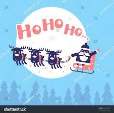 vector christmas illustration flying santa claus stock vector