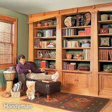 Wood Shelf Plans For A Wall by Building Bookshelves The Family Handyman