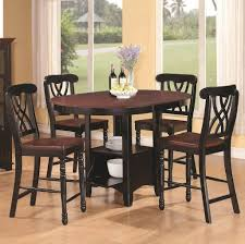 High Kitchen Table Sets by Dining Room Espresso Finish Tall Kitchen Table And Chairs Set